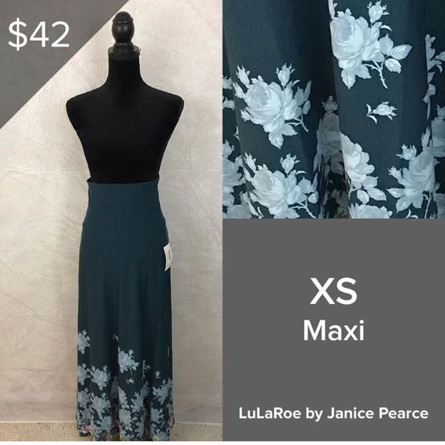 a9141110e486 BN Lularoe Maxi Size XS- Flora Dipped, Women's Fashion, Clothes, Dresses &  Skirts on Carousell