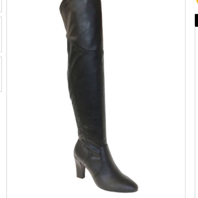 BNIB Over The Knee Heeled Boots 8