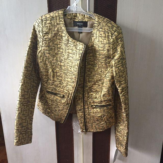 BNWT Mango Suit Gold Blazer