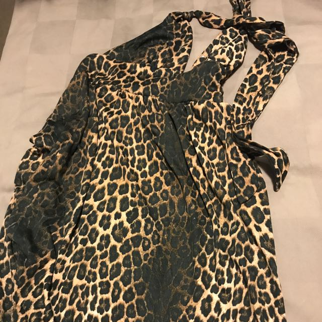 Brand New With Tag, Maxi Dress Halter Bodice Supré Size M Leopard