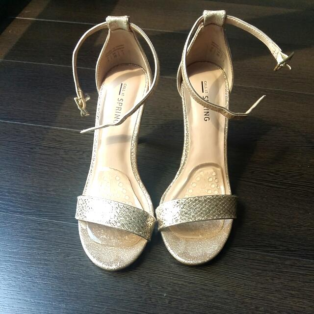 Call It Spring Gold Metallic Heels