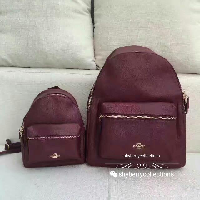 aff4c2c2147e CHARLIE BACKPACK IN PEBBLE LEATHER (COACH F38263)🎒