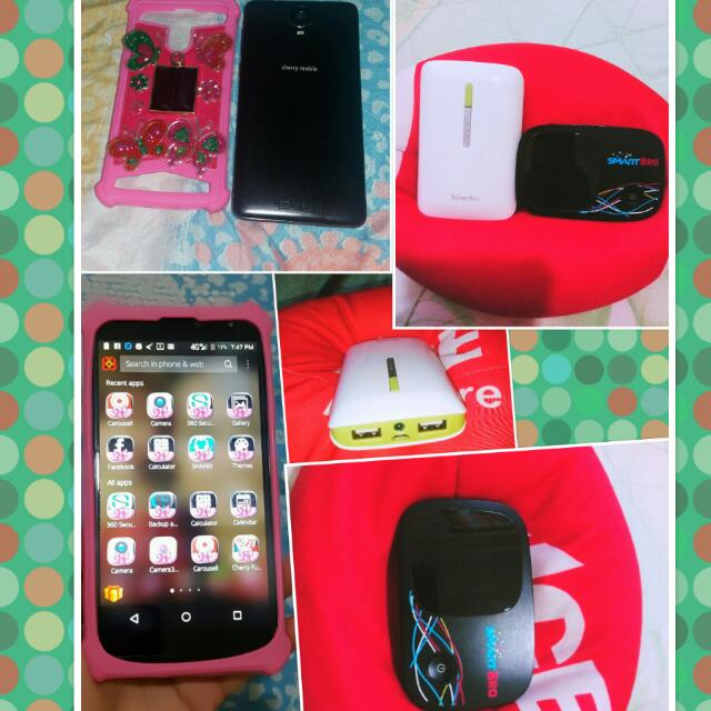 Cherry Flare J7 With Pocket Wifi &Power Bank