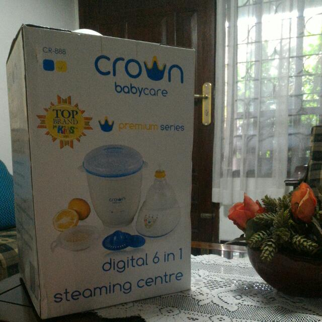 [NEW] Crown Baby Care Digital 6 In 1 Steaming Center Food Warmer