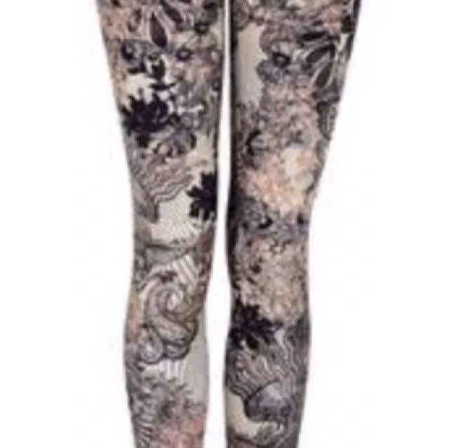 Designer Alexander McQueen Leggings 14-16 Rrp$600