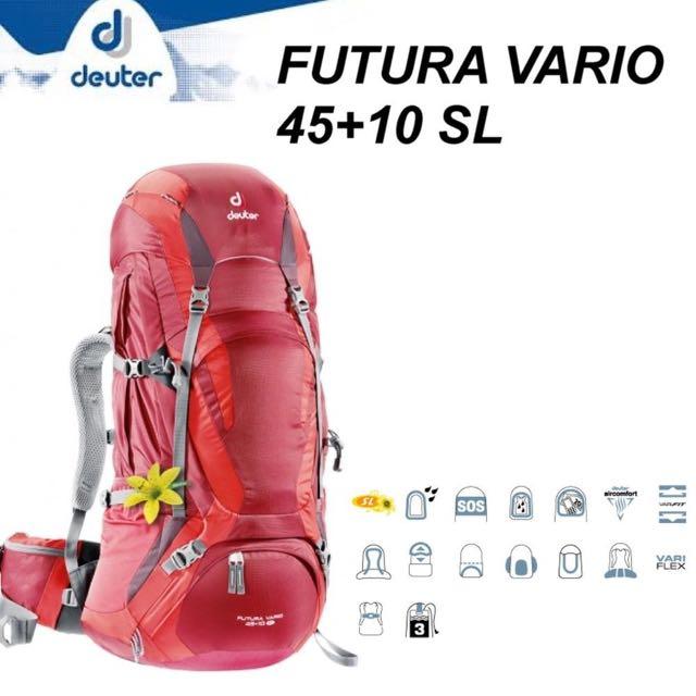 Original- 60% Freigabe Top Qualität Deuter Futura Vario 45+10 SL, Sports, Sports & Games ...