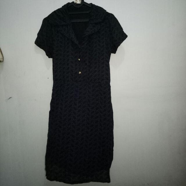 Dress bahan rajutan