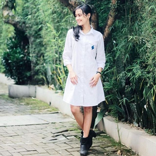 Dress Kemeja Putih