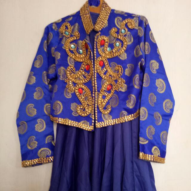 Elegant Dress Set (Blue)