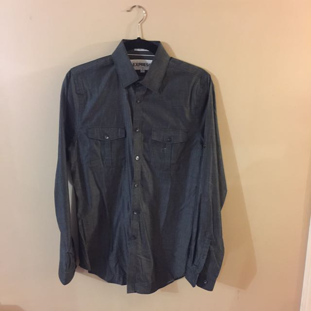EXPRESS - Extra Slim Fit Long Sleeve Shirt