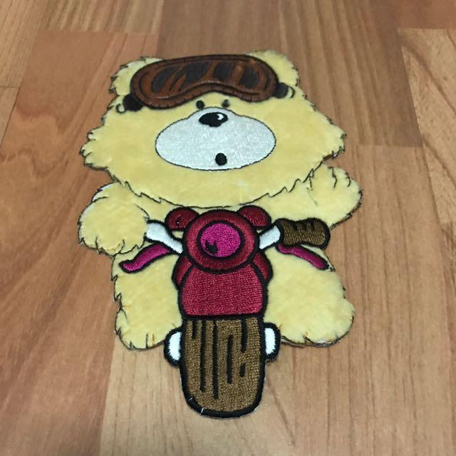 Fluffy Bear Iron On Patch