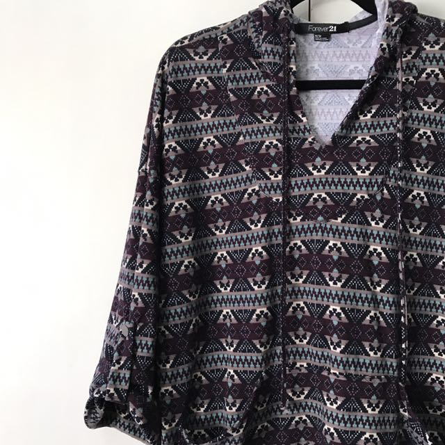 Forever21 Aztec Oversized Sweater
