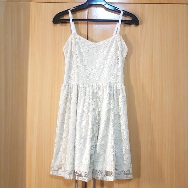 Forever21 White Laced Dress