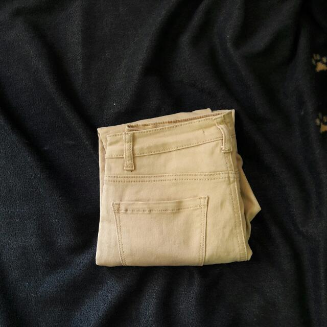 Forever 21 Collection Highwaist Camel Pants
