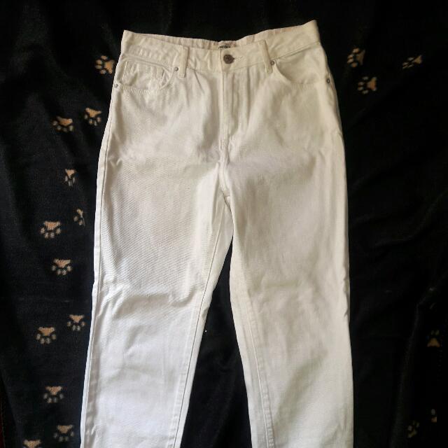 Forever 21 Highwaist White Mom Jeans