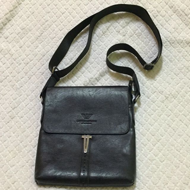 Giorgio Armani Leather Body Bag