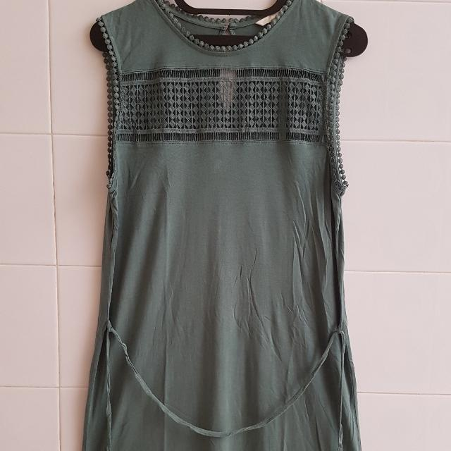 Green H&M Casual Dress