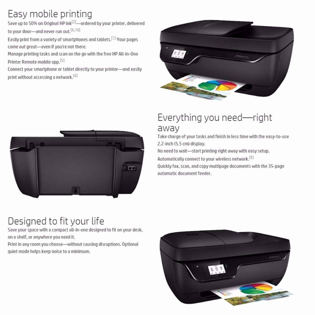 HP OfficeJet 3830 Easy All-in-One Printer Wireless (Scan + Copy + Print +  Fax) Brand NEW with 12 Mths Warranty!
