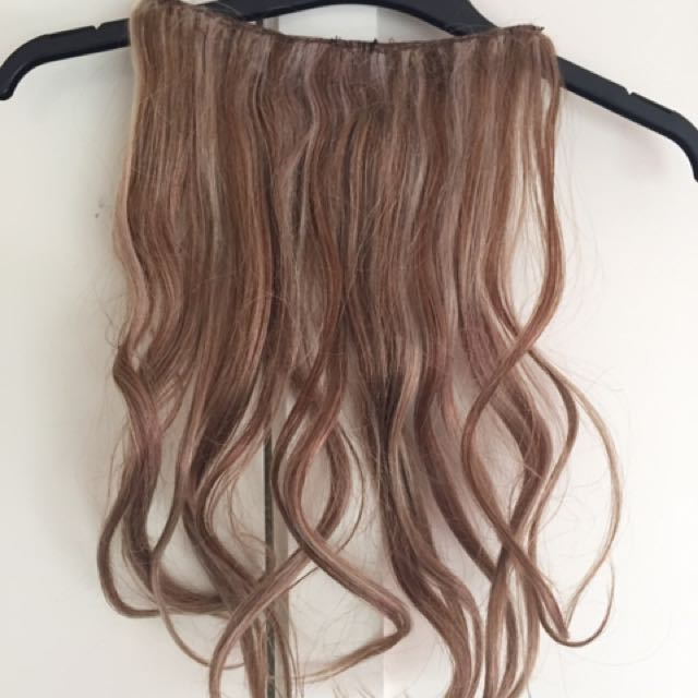 Human Hair Extensions 2 Tone Ash Blonde Clip Ins Health Beauty