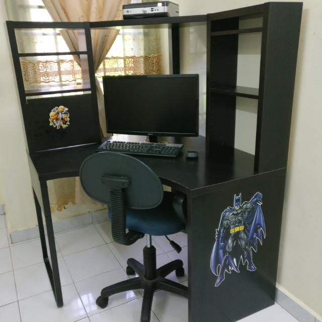 low priced a9e85 ca91b Adjustable Chair + IKEA MICKE Corner Workstation #SempenaRaya #HargaRuntuh60