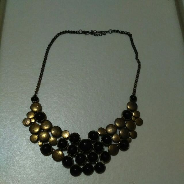 Kalung Gold Black