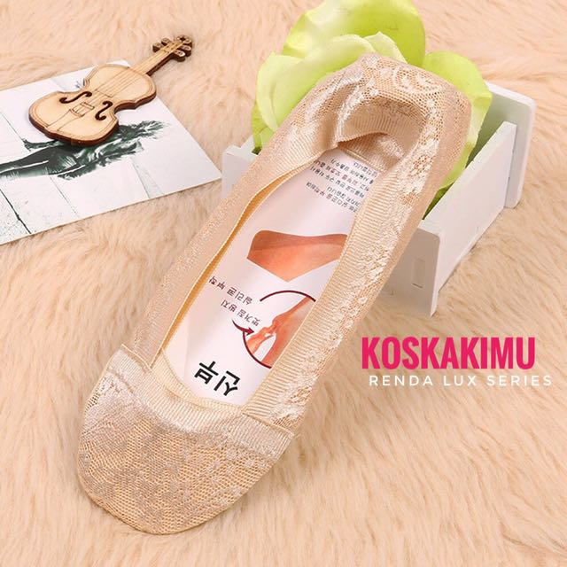 Kaos Kaki Invisible Socks Renda - Premium