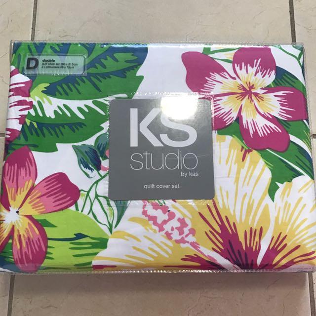 KAS Double Quilt Cover Set