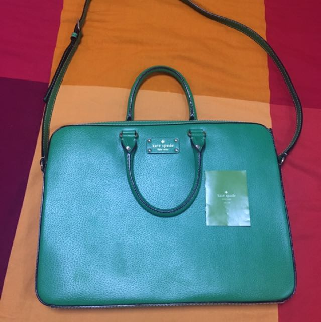 separation shoes a4a97 d7001 Kate Spade Wellesley Tanner Laptop Bag (Green)