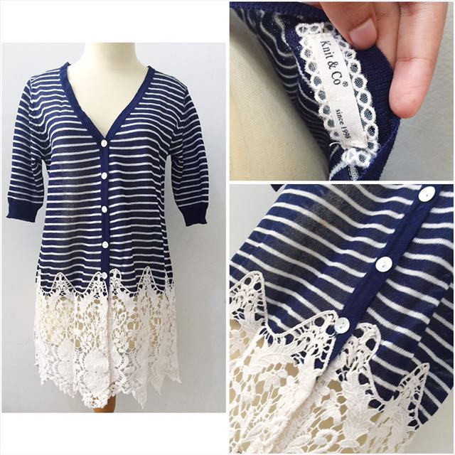 Knit Mix Lace Outer
