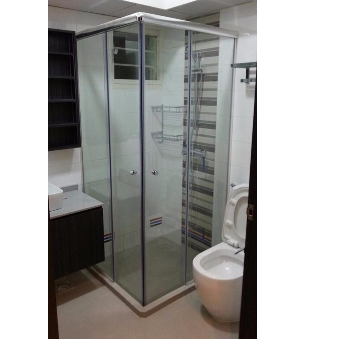 Marvellous Hdb Bathroom Sliding Door Contemporary Plan