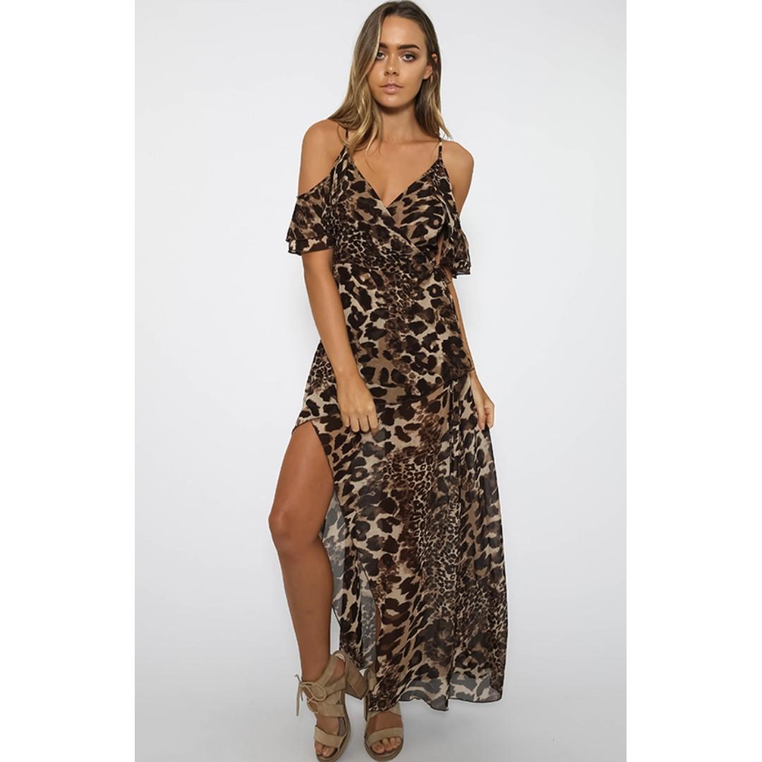 Leopard Print Dress Pepper Mayo