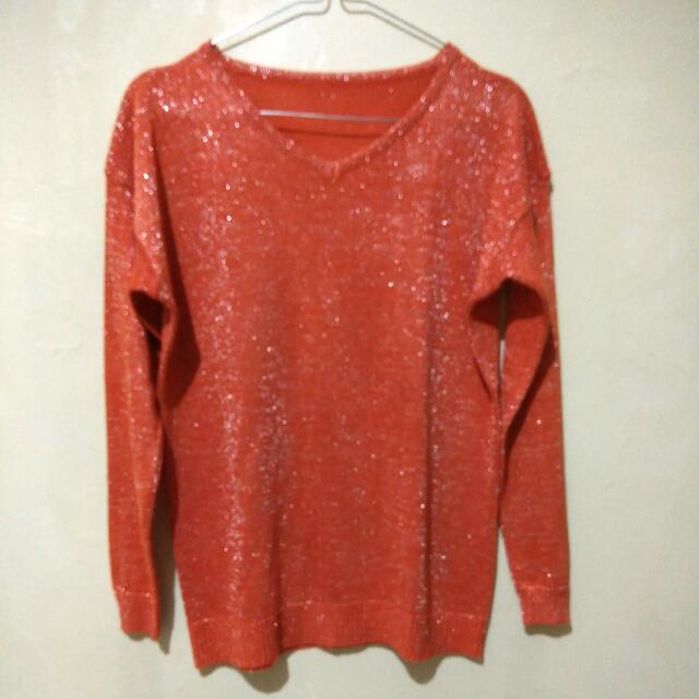 Long Sleeve Glitter Tee