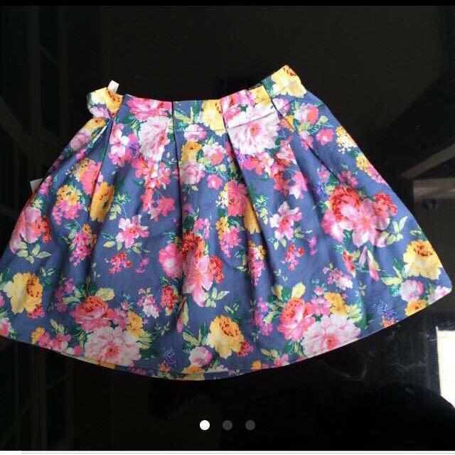 Magnolia Floral Skirt