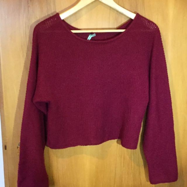 Marroon Knit
