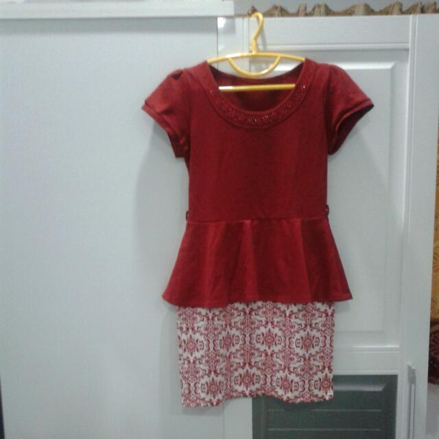 Mini Dress Motif Bawah Batik