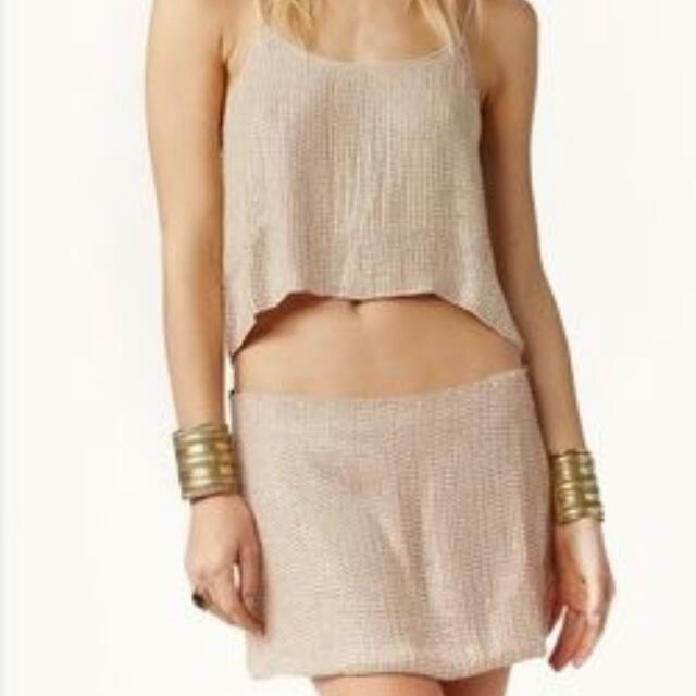 MLV by Mayren Lee Viray Top And Mini-Skirt (Nude)