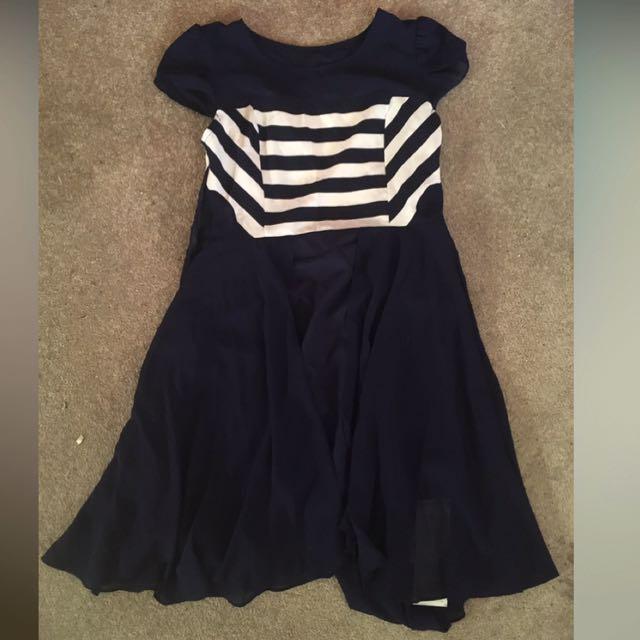 Navy Striped Dress