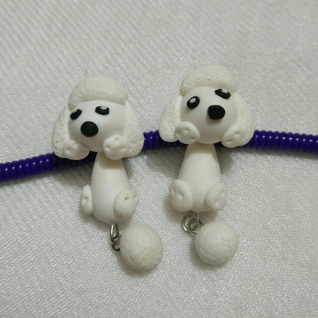 [NEW] Cute Animal Clay Earing - Dog / Puppy Poodle
