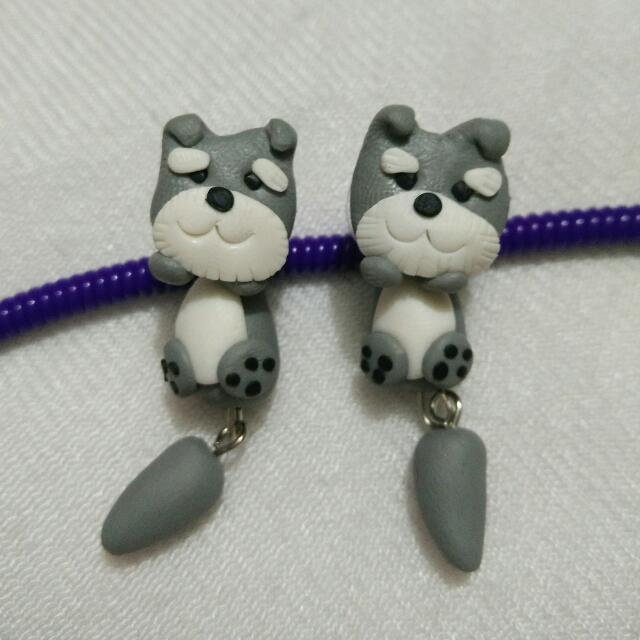 [NEW] Cute Animal Clay Earing - Dog / Puppy Yorkie
