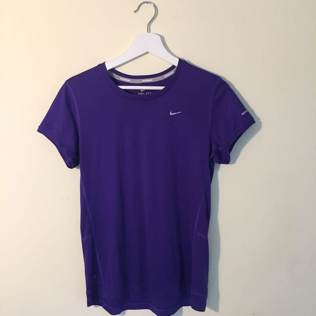 Nike Dri-fit Active Wear Shirt Purple M