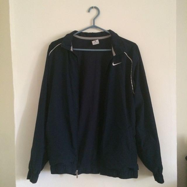 Nike Navy Zip Up Dri-fit Jacket