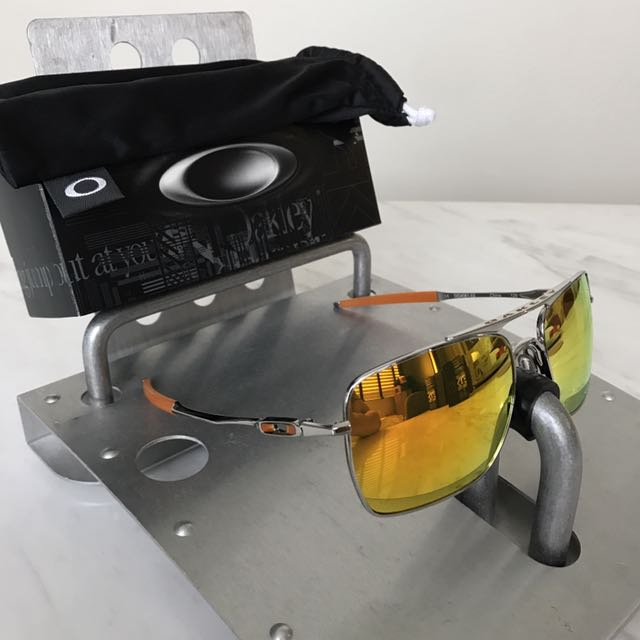 671ebc62439 ... clearance oakley deviation polished chrome w fire iridium mens fashion  accessories on carousell bd4f9 b55c3