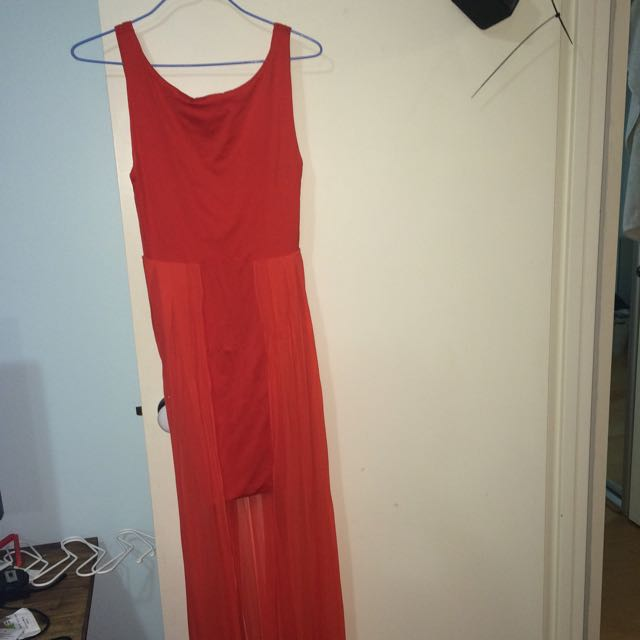 Orange Kookai Multi Layered Dress Sz 2