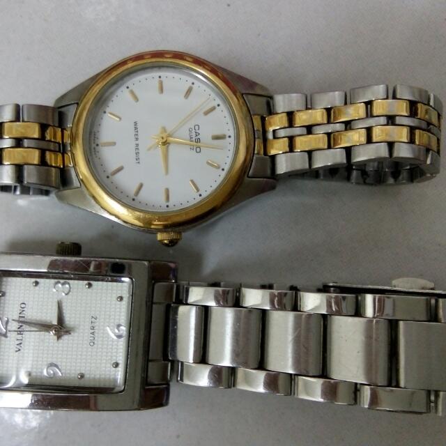 Original Valentino And Casio Ladys Watch