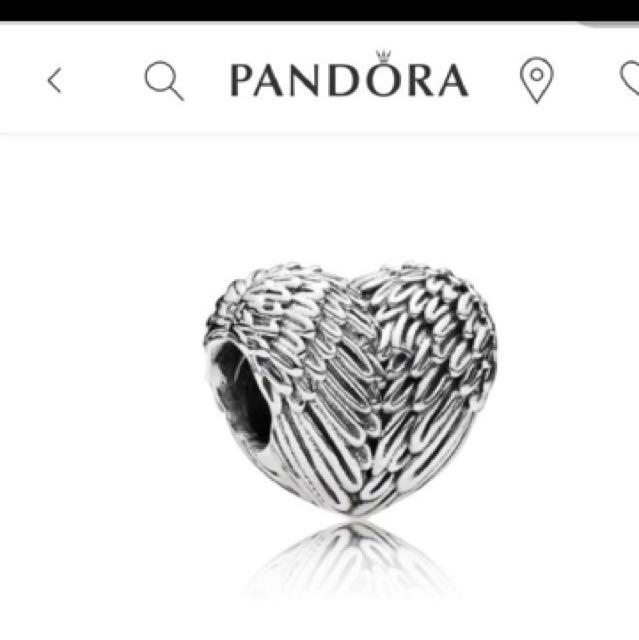 Pandora Angle Heart Charm