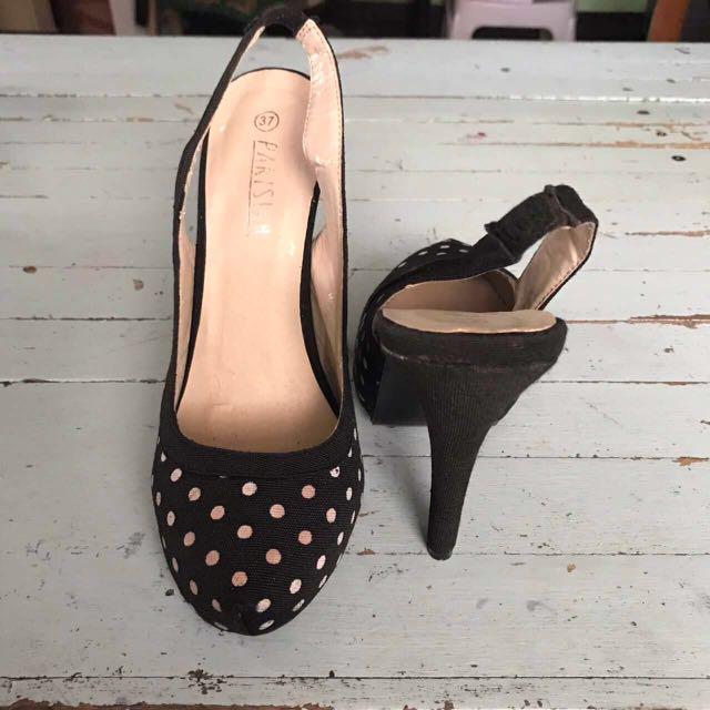 Parisian Polka Dots Heels