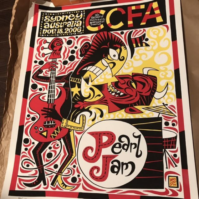 Pearl Jam / CCFA Concert Poster Signed/Numbered