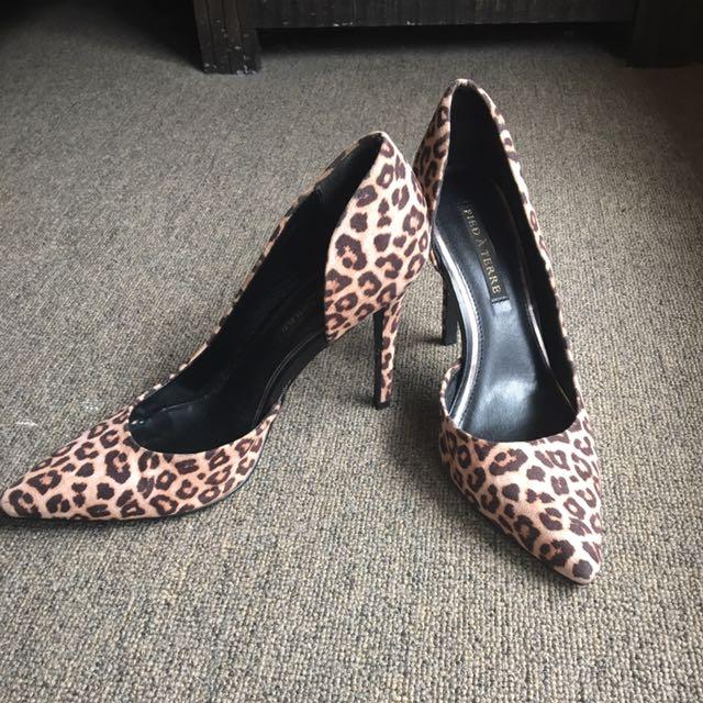 Pied A Terre Leopard Stilettos