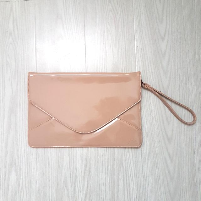 Pink Envelope Clutch