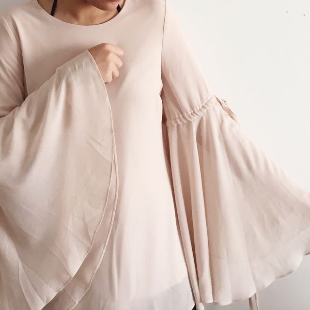 POPLOOK Cream Nude Blouse